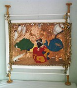 Yellow Jewelry Framed Prints - Contemporary Paintings Framed Print by Trevor R Plummer