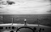 Angling Framed Prints - Controls On The Flybridge Deck Of A Charter Fishing Boat In The Gulf Of Mexico Out Of Key West Flori Framed Print by Joe Fox