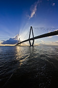Cooper River Bridge Charleston Sc Print by Dustin K Ryan