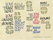 Dave Wood Prints - 1 Corinthians 13 Print by Dave Wood