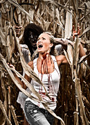 Escape Photo Posters - Corn Field Horror Poster by Jt PhotoDesign