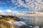Corona Framed Prints - Corona Del Mar Shoreline Framed Print by Eddie Yerkish
