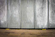 Industrial Background Posters - Corrugated metal Poster by Tom Gowanlock