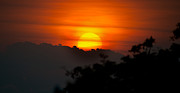 Sundays Prints - Costa Rica Sunset Print by Peter Boyer