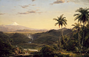 Famous Artists - Cotopaxi by Frederick Edwin Church