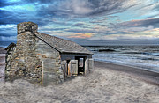Nearby Prints - Cottage by the Sea Print by Betsy A Cutler East Coast Barrier Islands