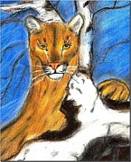 Judy Minderman - Cougar on Rock