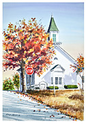 Rick Mock - Country Church in Fall
