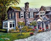 Depicting Paintings - Country Home by Wanda Kightley
