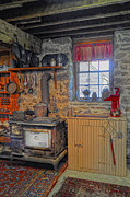 Antique Wood Burning Stove Prints - Country Kitchen Print by Dave Mills