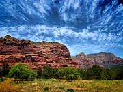 Energy Posters - Courthouse Butte Sedona Arizona Poster by Amy Cicconi