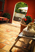 Tiled Photo Prints - Courtyard of a villa Print by Elena Elisseeva