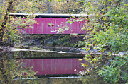 Covered Bridge Digital Art Metal Prints - Covered Bridge Along the Wissahickon Creek Metal Print by Bill Cannon