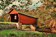 Scenic Drive Prints - Covered Bridge Print by Darren Fisher