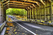 Scenic Drive Framed Prints - Covered Bridge on Pierce Stocking Scenic Drive Framed Print by Twenty Two North Photography