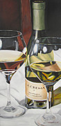 Canvas Wine Prints Framed Prints - Craving La Crema Framed Print by Michele Murtaugh