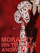 Red Digital Art Posters - Cruella De Vil Poster by Christopher Ables