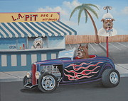 Sunglasses Painting Posters - Cruizin at da L.A. Pit Poster by Stuart Swartz