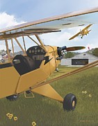 Piper Cub Prints - Cubbin Print by Rick Blyseth
