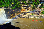 Ledge Photos - Cumberland Falls Rainbow by Robert Harmon