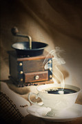 Mythja Prints - Cup of coffee Print by Mythja  Photography