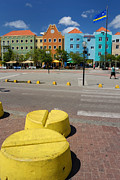 Crosswalk Prints - Curacaos Colorful Architecture Print by Amy Cicconi