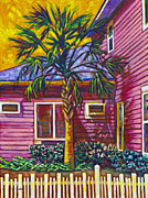Florida House Painting Posters - Curb Appeal Poster by Eve  Wheeler