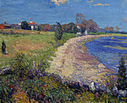 New England Art - Curving Beach by William James Glackens