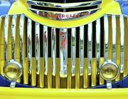 Grillwork Prints - Custom Chevy Truck   Print by Allen Beatty