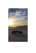 Dry Lake Photo Metal Prints - Custom Salt Metal Print by Holly Martin