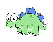 Stegosaurus Digital Art - Cute Illustration Of A Stegosaurus by Stocktrek Images