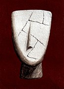 Prehistoric Sculpture Prints - Cycladic Idol Print by Thiras art