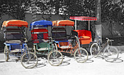 Tulear Photo Framed Prints - Cycle Rickshaws Framed Print by Liz Leyden