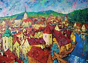 Czech Mixed Media - Czech Krumlov by Vladimir Domnicev