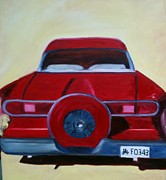 Street Rod Paintings - Dads 58 Ford by Debbie Weibler