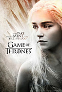 Game Of Thrones Framed Prints - Daenerys - Game of thrones  Framed Print by Farhad Tamim