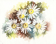 Delicate Details Paintings - Daisies by Natasha Denger