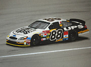 Jarrett Framed Prints - Dale Jarrett UPS Ford Framed Print by Paul Kuras