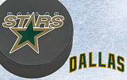 Puck Posters - Dallas Stars Poster by Joe Hamilton