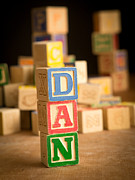 Name Photo Prints - DAN - Alphabet Blocks Print by Edward Fielding