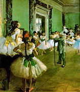 Dance Recital Posters - Dance Class  Poster by Edgar Degas