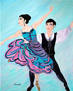 Ballet Dancers Paintings - Dance. Inspirations Collection. by Oksana Semenchenko