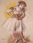 Featured Pastels Framed Prints - Dancer Framed Print by Edgar Degas