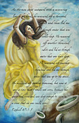 Worship God Paintings - Dancing in Glory by Cindy Elsharouni
