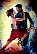 Ballet Dancers Posters - Dancing In The Moonlight Poster by Mike Grubb