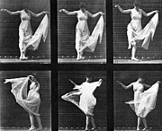 Dancing Framed Prints - Dancing Woman Framed Print by Eadweard Muybridge