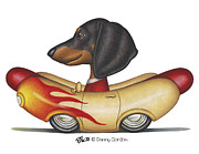 Dachshund Framed Prints - Danny Framed Print by Danny Gordon