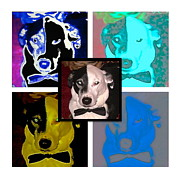 Oreo Prints - Dapper Dog - Oreo Print by Linda Everson