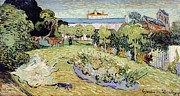 From 1886 Prints - Daubignys garden Print by Vincent van Gogh