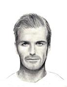 David Beckham Print by Mary Mayes